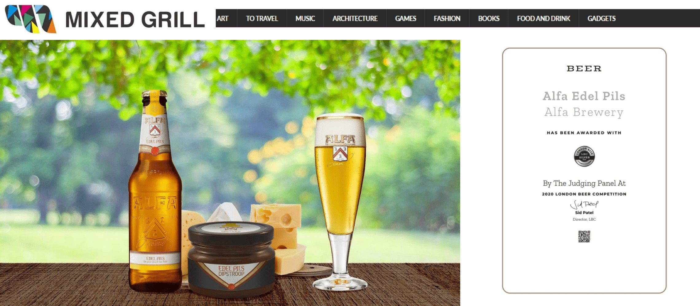 Photo for: Alfa Edel Pils Voted Best Lager In The World