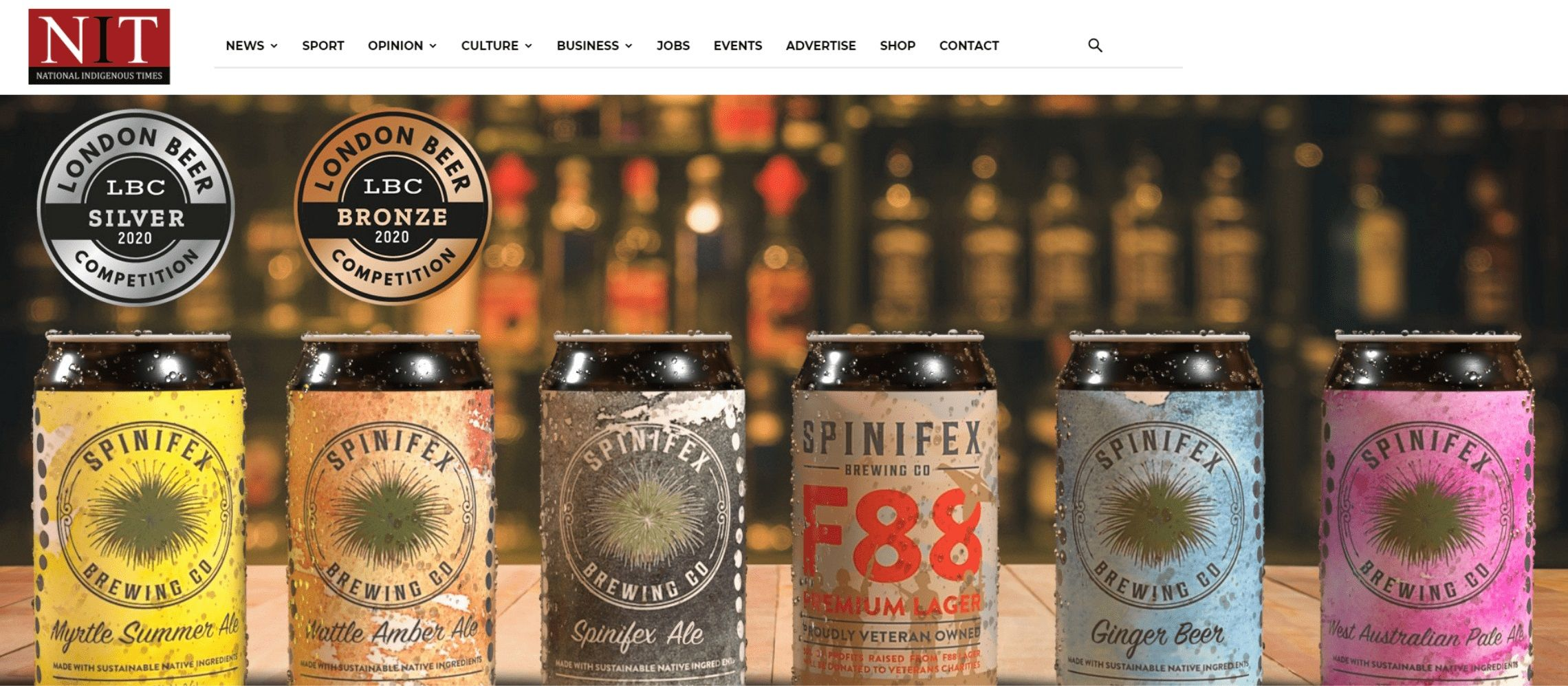 Photo for: Spinifex Brewing Co Wins Silver And Bronze At London Beer Competition