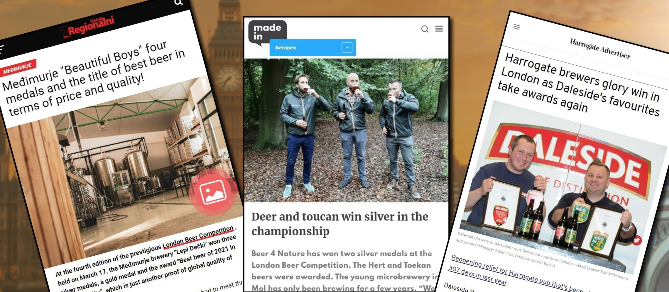 Photo for: Extensive Media Coverage for London Beer Competition Winners